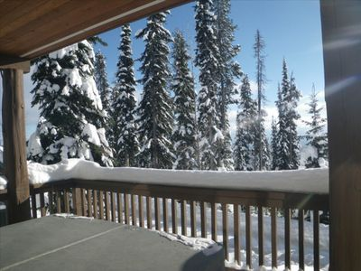 Photo for Cozy 2 Bedroom  Ski in, Ski out, Chalet with European Flair and Private Hot Tub