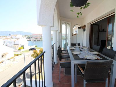 Photo for The apartment in Empuriabrava with two bedrooms and pool.