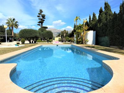 Photo for Large private villa near the beach with pool and private tennis court