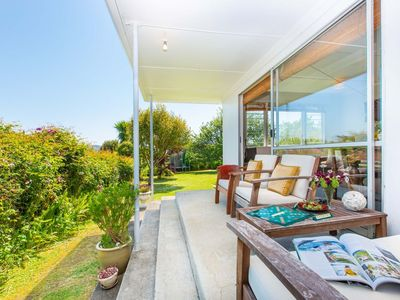 Photo for Lorenzen Bay Bungalow - Raglan Holiday Home