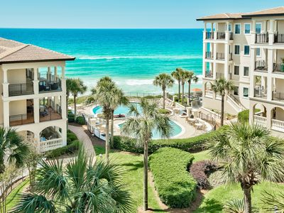 Photo for Gulf Front Condo! Stunning Views and Gourmet Kitchen! Two Gulf Front Pools!