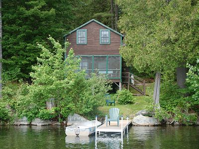 Photo for Echo Lake Waterfront Cabin with Private Dock