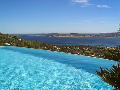 Photo for Exceptional sea view over the bay of St Tropez!