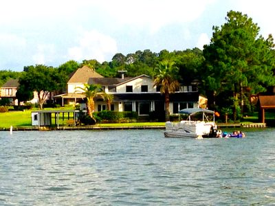 Photo for Unobstructed open water lake house for fun, family & friends