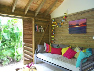 Photo for Comfortable bungalow, full of charm, close to the beach