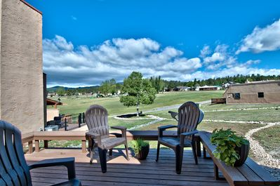View from back deck of condo that overlooks the 18th green of Cree Meadows
