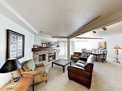 Photo for New Listing! Spacious Ski Resort Condo with Pool & Hot Tub - On Bus Line
