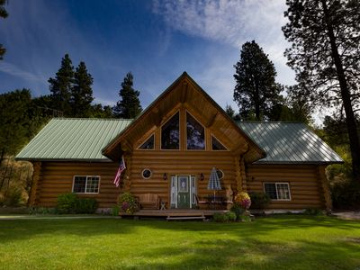 Photo for 2-Story Log Home Nestled on a Mountain Side-3,500 Sq Feet