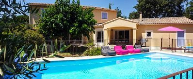 Photo for SUPERB FAMILY VILLA, Secure swimming pool, Sauna, 6 bedrooms + 6 bathrooms