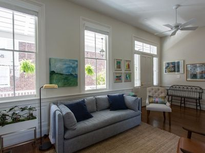 (8A)Historic Charm + Modern Luxury + Parking + Porches + walk one block to King Street