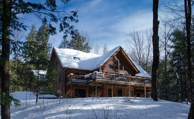 Photo for NEW! 5 Bedroom Luxury Quechee Log Cabin