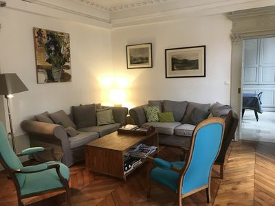 Photo for Beautiful and large charming apartment in the heart of the historic center of Dijon