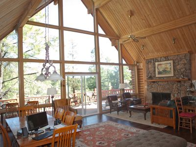 Photo for Log House Chalet – great views of mtns & golf course - Continental Country Club