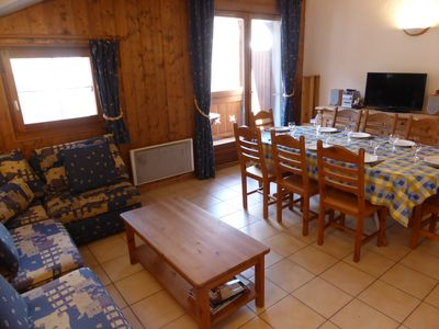 Relax in our cozy and spacious living area after a great day on the pistes.