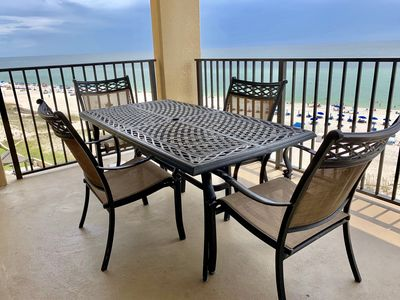 Photo for Beautiful Beach-Front Condo on the 7th Floor Overlooking Splash Pad!