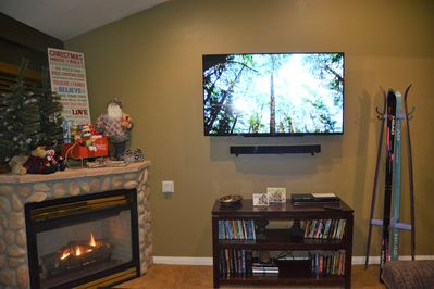 Watch the big game or NETFLIX on our 60in flat screen with SONY sound bar