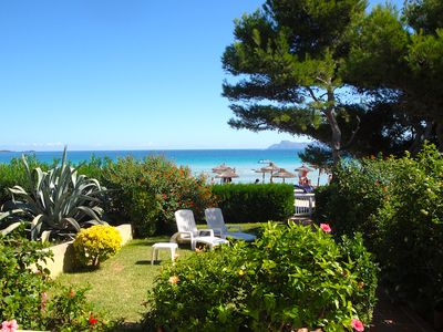 Photo for Dream apartment with private garden and beach access on the Playa de Alcudia