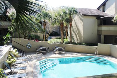One of two Courtside Villas complex pools... This one just steps from condo.