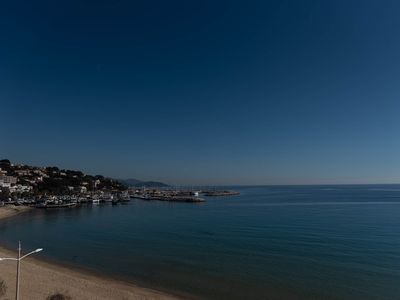 Photo for magnificent view of the sea and the ports of Lavandou and Bormes les Mimosas