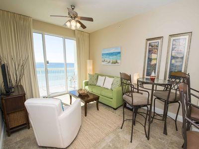 Photo for Beachfront Condo with Private Balcony and Free Beach Chair Service. Tons of Resort Amenities!