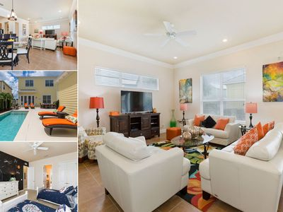 Photo for Patriots Villa | Bright, Modern Decor with Pool and Great Kids Bedroom