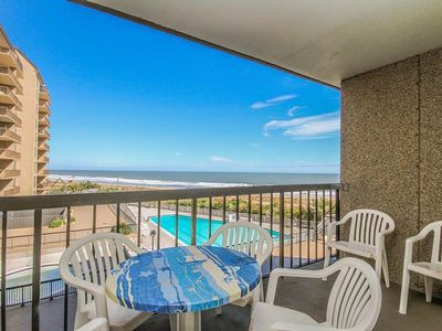 Photo for G310: 2BR+den Sea Colony oceanfront condo | Private beach, pools, tennis ...