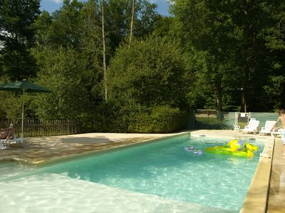 Photo for Welcome to Clos D 'Allas with its swimming pool and private fishing pond.