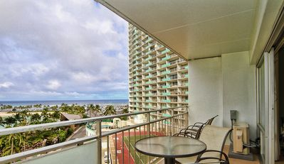 Photo for Aloha Condos, Ilikai Hotel Condos, Condo 624, Beach View, AC