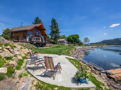 Photo for Custom-built riverfront home w/private dock and hot tub