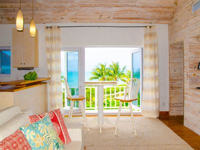 Photo for Orange Hill Beach Front Cottage - Turquoise Water Front with AMAZING Ocean View