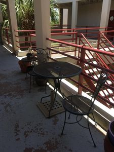 patio flooring has been resealed/painted since this 2018 pic