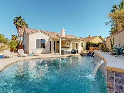 Photo for Newly redecorated home with private pool, spa & outdoor kitchen!