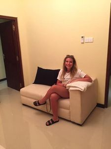 Comfortable sofa in the lounge