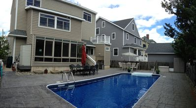 Photo for Steps to the beach in Seaside Park. 6 bed, 3.5 bath with in-ground pool.