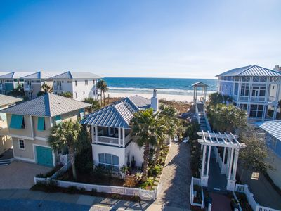 View from above - direct Gulf Front with easy beach access