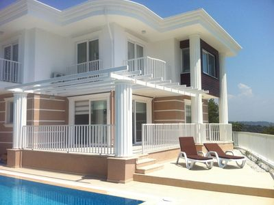 Photo for Beautiful villa with private pool and stunning views, walkable to Sarigerme