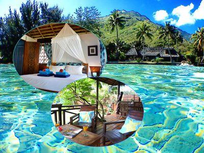 Poerani Moorea: Beautiful Polynesian Bungalow Facing The Lagoon - Up To 4 Pers.