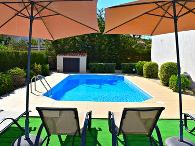 Photo for Latch Beach Villa - Opposite Blue Flag Beach - Amazing Sea Views - Private Pool