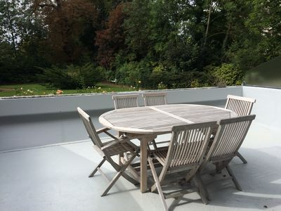 Photo for Ground floor apartment with terrace of 20m2 park view