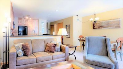 Photo for Wood fireplace, washer/dryer, indoor pool & hot tub, garage. Walk to Mountain House Lifts