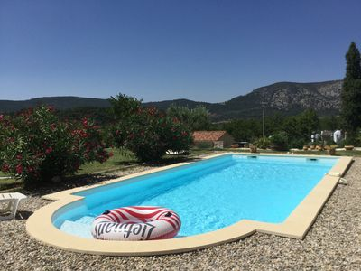 Photo for The Garden of Alyvis VILLA LA CIGALE and swimming pool at the foot of Mont Ventoux