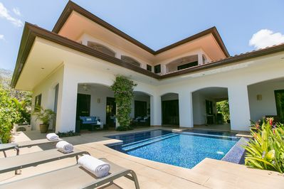 front view with pool area