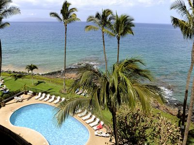 View of Royal Mauian Oceanfront Swimming Pool from the Roof Deck