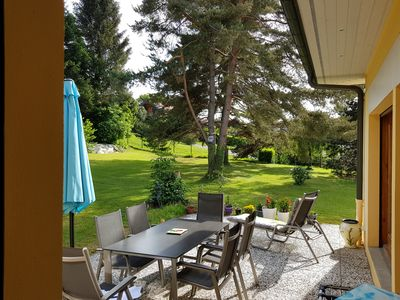 Photo for Apartment of 132 m2 in a villa on the edge of Golf Evian, Lake Geneva view