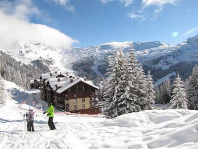 Photo for FLAINE 5* resort 1 bedroom apt, sleeps 4, ski-in ski-out, heated pool, jacuzzi