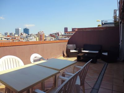Photo for Penthouse in Barcelona near Plaza Spain