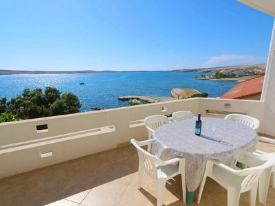 Photo for Two bedroom apartment near beach Kustići, Pag (A-4086-a)