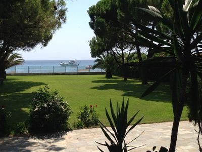 Photo for 3 or 5  BEDROOM BEACHFRONT VILLA ON MARATHON BAY - SCHINIAS,  AMID PINE TREES