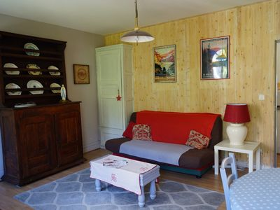 Photo for Cozy apartment in the mountains in front of the thermal baths 15 minutes from the slopes
