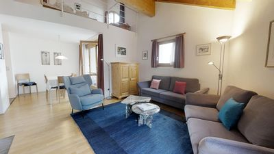 Photo for Nice and quiet 4-room apartment spread over two floors, under the roof, with vie